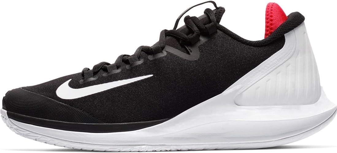 Nike Mens Air Zoom Zero Tennis Shoes (Black/White/Bright Crimson)