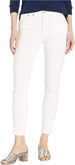 Veronica Cropped Skinny Jeans in Winter White