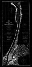 Vintography Blueprint Style 8 x 12 Nautical Map of Navigation Chart for Hudson River, Sheet No.1, from New York to Haverstraw 1901 C&GS 80a