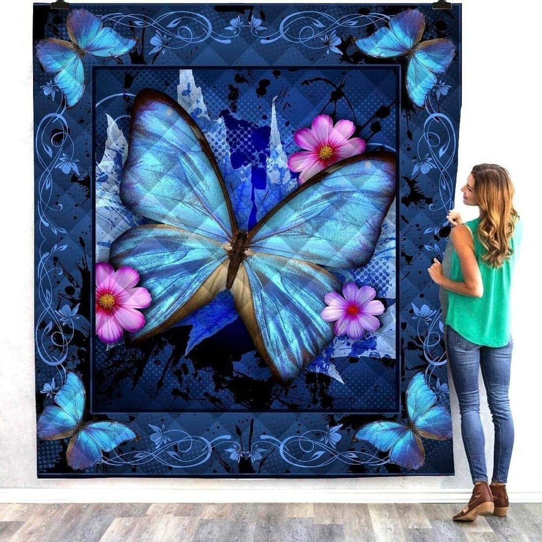 Personalized Beauty products Butterfly Quilt Gift for Luxury Set Lovers Your Bed