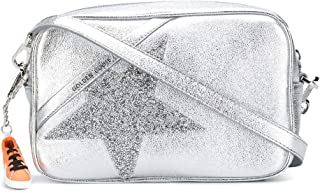 Golden Goose Luxury Fashion Damen GWA00101A00010270130 Silber Leder Schultertasche   Jahreszeit Permanent