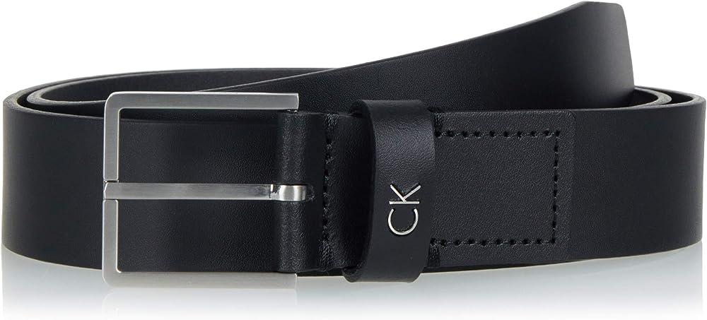 Calvin klein, cintura per uomo,in pelle 100% K50K504300