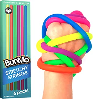 BUNMO Fidget Toys for Stress Relief - Stretchy Sensory Toys for Autistic Children/ADHD/Fidgets & Anxiety Toys for Adults - 6 Pack
