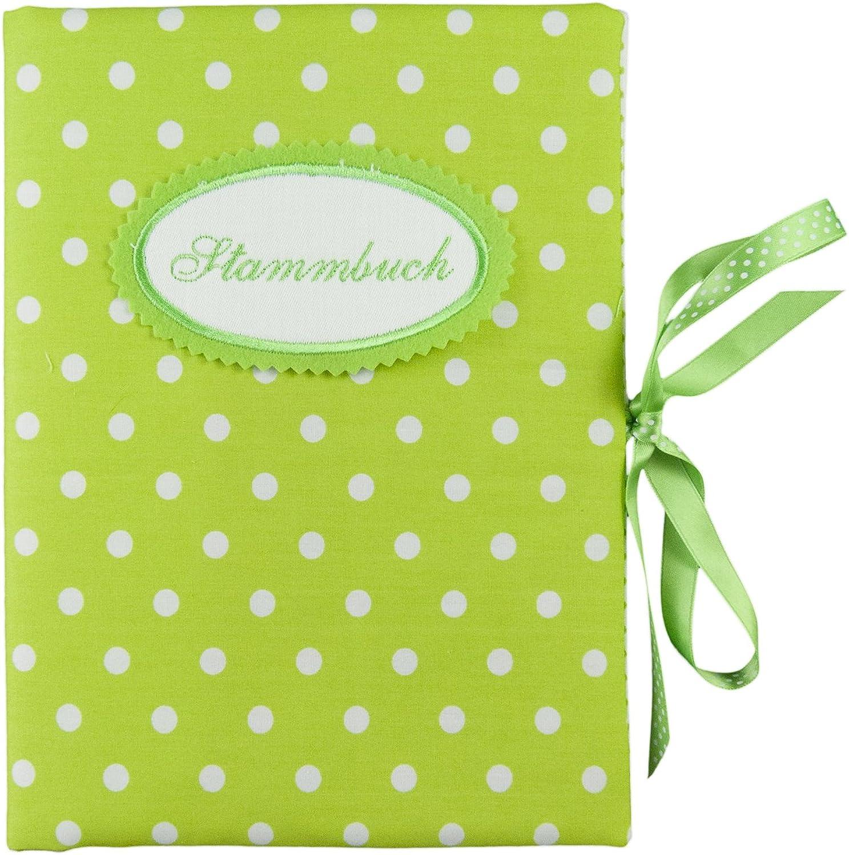 Bettina bruder - Sammelmappe DIN A5 - - - Stammbuch Punkte grün weiß B075ZRPMK1 | Für Ihre Wahl  d13464