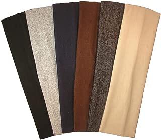 Cotton Headbands 6 Pack Stretch Elastic Yoga Soft and Stretchy Sports Fashion Headband..