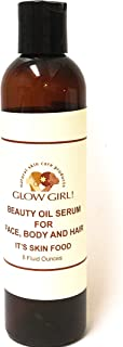 Zuhuri Beauty GLOW GIRL! Beauty Oil Serum for Face, Body and Hair (8 ounces). All natural, non-toxic and cruelty free.