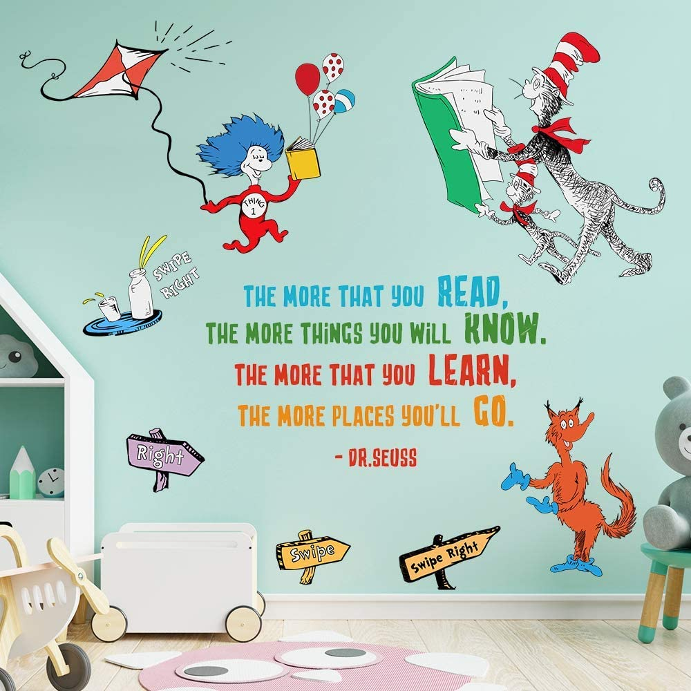 Supzone Dr Seuss Wall Decals Quotes More That Some reservation Saying unisex Rea You The