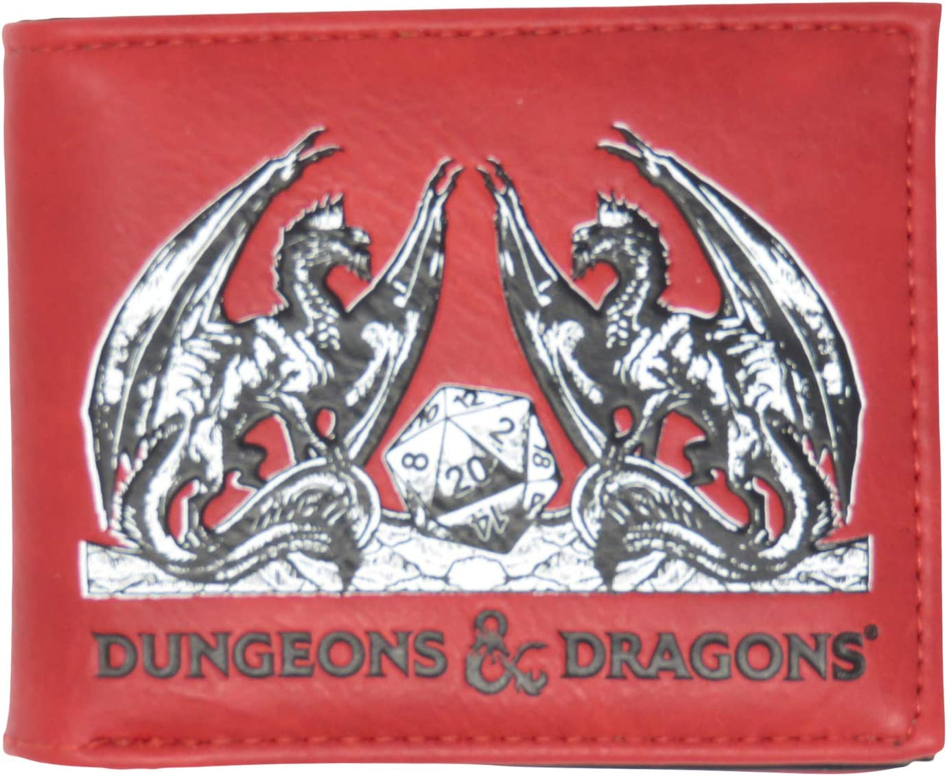 Dungeons and Dragons Logo Faux Leather Bifold Wallet
