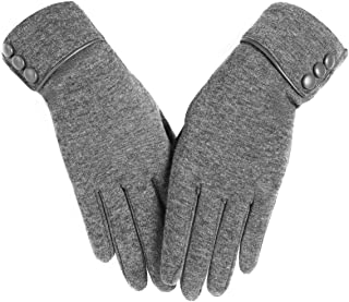 Ksnnrsng Women's Winter Warm Touchscreen Gloves Lined Thick Lady Touch Screen Texting Glove
