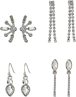6-Pair Mixed Stud and Mini Drop Earrings Set
