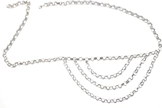 Town of Trinkets Silver 6mm ring belly, waist chain for girls ,wearable on Jeans -pants -shorts