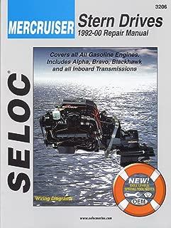 Sierra International Seloc Manual 18-03206 Mercruiser Stern Drives Repair 1992-2000 Gasoline Engine Includes Alpha Bravo Blackhawk & All Inboard Transmissions