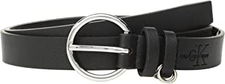 Calvin Klein womens 436413 25mm Flat Strap With Loop Ring Detail Belt - black