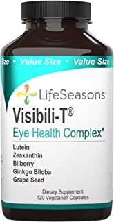 LifeSeasons - Visibili-T - Vision Supplement - Supports Eyesight, Dry Eyes, Night Visibility and Eye Floaters - Contains C...