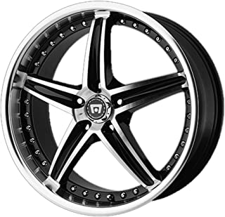 Motegi MR107 18x8 5x112 42mm Black/Machined Wheel Rim 18