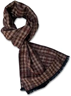 StrayKat Men's Silk Viscose Soft Reversible Scarf, Designer Gift Box, O/S
