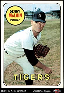 1969 Topps # 150 Denny McLain Detroit Tigers (Baseball Card) Dean's Cards 3.5 - VG+ Tigers