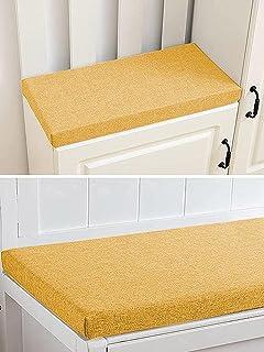 Coussin pour banc de jardin 2 ou 3 places, pour intérieur et extérieur, 100/120 cm, pour balancelle (80 x 40 x 5 cm, jaune)