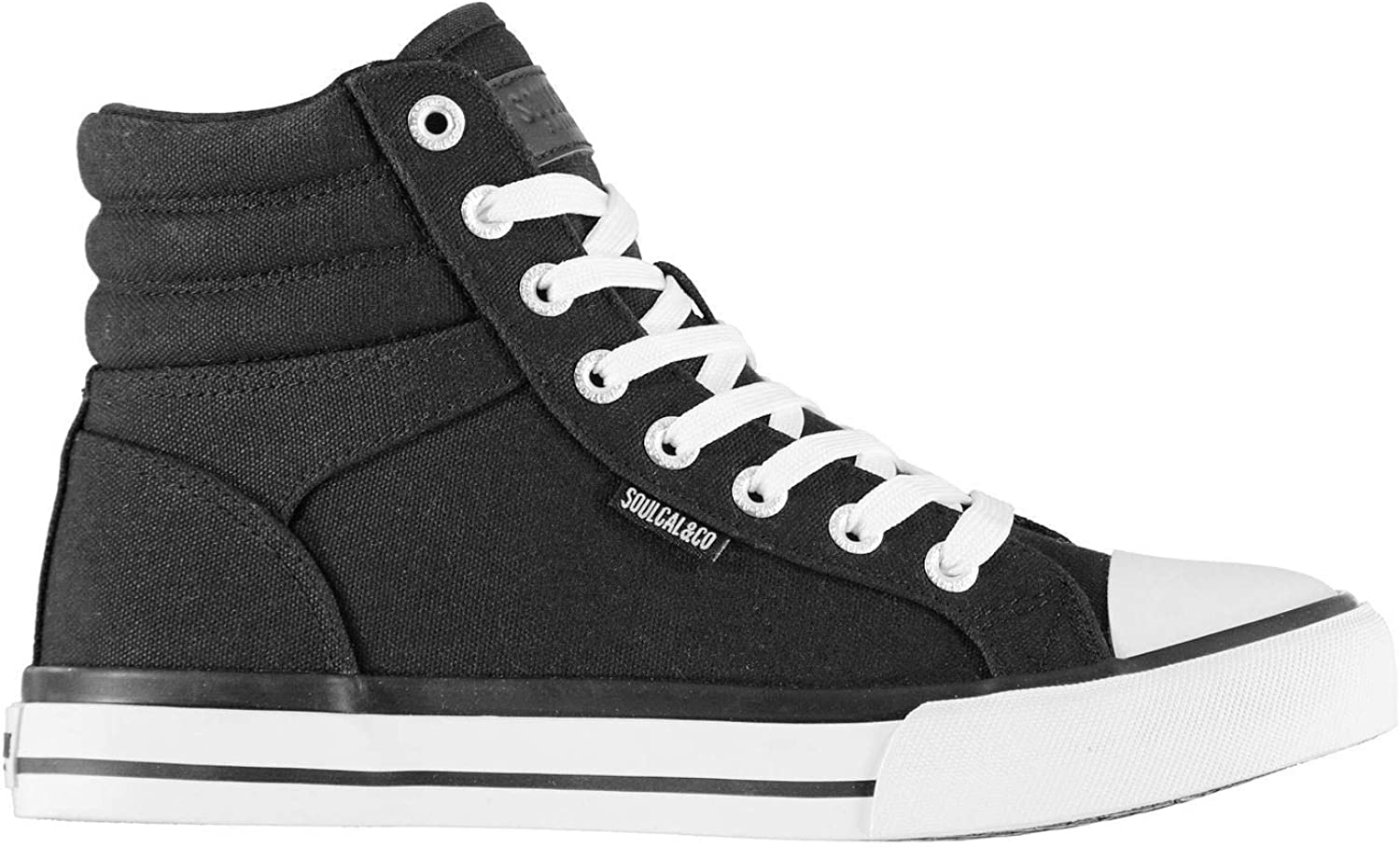 SoulCal Asti Hi Canvas shoes Womens Black Athleisure Trainers Sneakers Footwear
