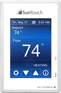SunTouch Command Touchscreen Programmable Thermostat [universal] Model 500850 (low-profile, user-friendly floor heat contr...