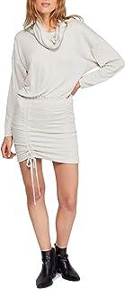 Free People Womens Sundown Cowl Neck Ruched Mini Dress