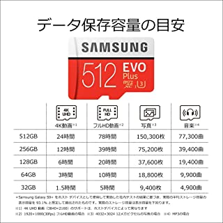 Samsung microSDカード512GB EVOPlus Class10 UHS-I対応 Nintendo Switch 動作確認済 海外リテール MB-MC512G