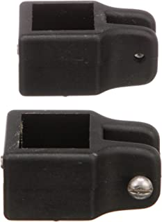 Seachoice 76361 Square Jaw Slides for 1 Inch Square Tube Bimini Tops - Rust-Free Nylon - Black - Pack of 2