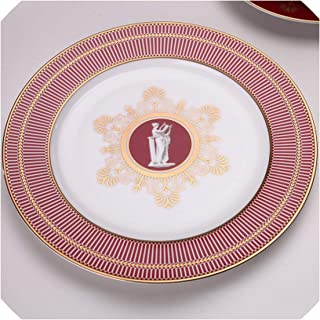 European Phnom Penh Dinner Plates Bone C Soup Plate Ceramic Hotel Restaurant Western Steak Plate Home Decoration,8inch plate