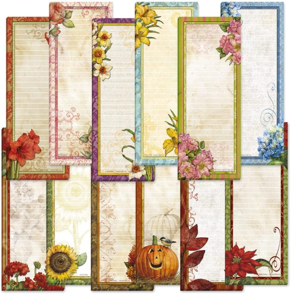 Seasonal Lined Magnetic Notepad Max 64% OFF Set Houston Mall P of 12 – 30-Sheet
