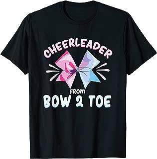 Cheerleader From Bow To Toe Shirt   Football Cheer Girl Mom