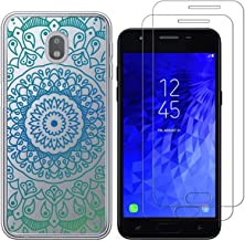 Samsung Galaxy J7 2018 /J7 Aero/J7 Top/J7 Aura/J7 Crown Case with 2 Pack Glass Screen Protector-Mandala