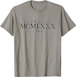 Jahrgang MCMLXXX 1980 (Vintage Schwarz) 40. Geburtstag T-Shirt