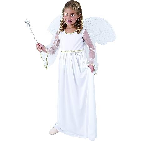Engel Kostüm weiß//gold für Kinder Größe 116 Fee Burgfräulein