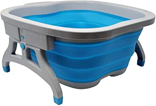 Large Foot Soaking Tub, bucket for feet, foot bath, foot tub, for at Home Spa Pedicures. Plastic/Rubber Foldable Bucket Fo...
