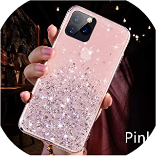 Luxury Bling Glitter Phone Case for iPhone 11 Pro X XS Max XR Soft Silicon Cover for iPhone 7 8 6 6S Plus Transparent Cases Capa,for iPhone Xs MAX,