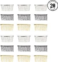 Hair Comb, 30pcs 20 Teeth Fancy DIY Metal Wire Hair Clip Bridal Wedding Veil Combs Hair Accessories for Women
