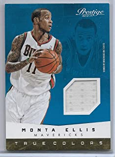 2013-14 Panini Prestige Basketball Montana Ellis True Colors Jersey Card # 21
