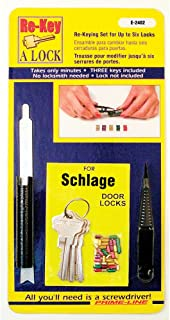 "Prime-Line E 2402 Re-Keying Kit – Re-Key a Lock Kit with Pre-Cut Keys for Rekeying all your Locks to One Key, For Schlage Brand Locks, Type ""C"" 5-Pin Style Locks"