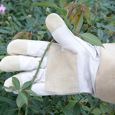 Rose Pruning Gloves for Men & Women, Long Thorn Proof Gardening Gloves, Breathable Pigskin Leather Gauntlet , Best Garden