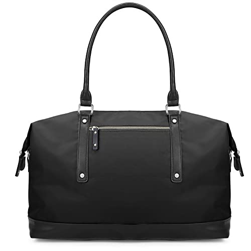 ECOSUSI Duffel Bag Weekender Overnight Bag Large Travel Tote Shoulder Bag  with Trolley Sleeve for Men 7249a21b9cf9d