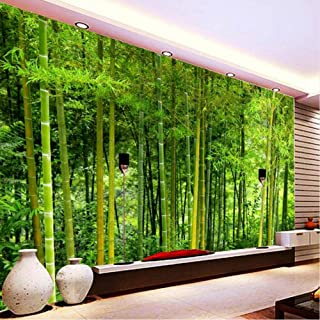 xbwy Latest Bamboo Wall Paper Living Room Tv Sofa Backdrop Wall Mural 3D Nature Landscape Home Decor 3D-350X250Cm