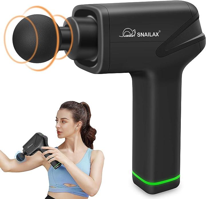 Pistola massaggio muscolare, massaggiatore a percussione con 5 velocità a percussione, snailax SL-491