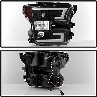 Spyder Auto 5083531 DRL LED Projector Headlights Pair Black DRL LED Projector Headlights