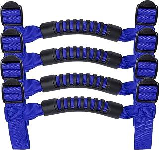 4 x Roll Bar Grab Handles Grip Handle for Jeep Wrangler YJ TJ JK JKU JL JLU Sports Sahara Freedom Rubicon X & Unlimited 19...