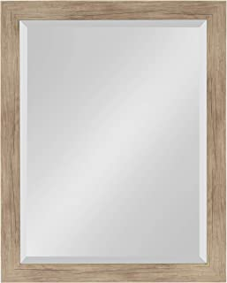 DesignOvation Beatrice Framed Wall Mirror 21x27 Rustic Brown