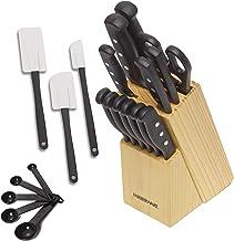 Farberware 22-Piece Never Needs Sharpening Triple Rivet High-Carbon Stainless Steel Knife..