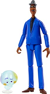 Disney and Pixar Soul Joe Gardner Action Figure 8-in / 20.3-cm Tall Movie Character Toy with 2-in / 5.1-cm 22 Figure, Highly Posable with Authentic Look, Gift for Pixar Fans & Collectors