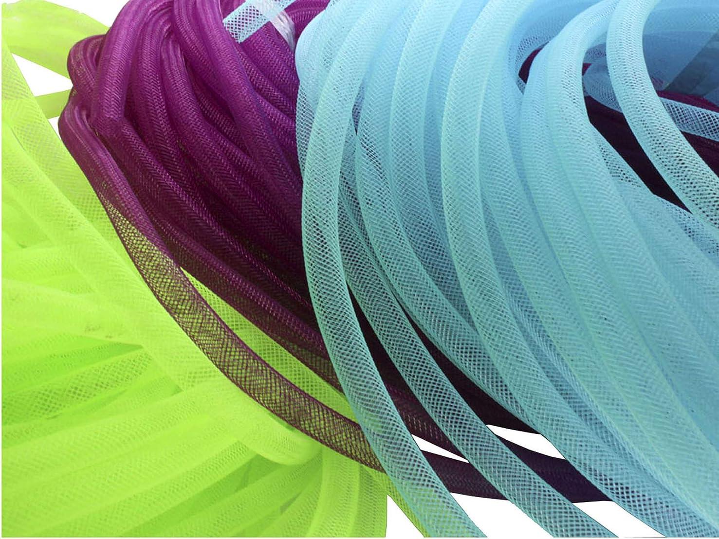 Menghuan 80 Yards(16 bundles) Mesh Tubing Cord 8mm Fashion Bracelet/Necklace Cord Jewelry Accessory
