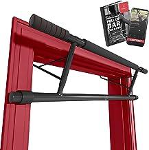 Optrekstang zonder boren - Deurkozijnen Rekstang + Workoutgids | Professionele Pull-Up Stang Bar met Softgrip, Bevestiging...