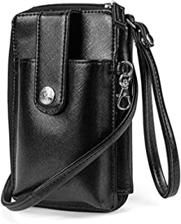MUNDI Jacqui Vegan Leather RFID Womens Crossbody Cell Phone Purse Holder Wallet